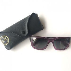 RayBan Unisex Sunglasses Purple Frames